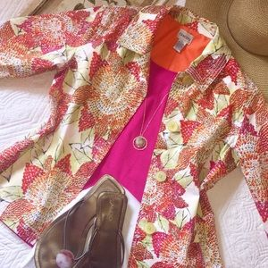 Chicos vibrant sequin embellished blazer.